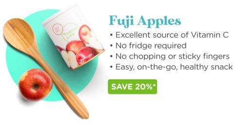 Thrive Life freeze dried Fuji apples www.HealthyEasyFood.com
