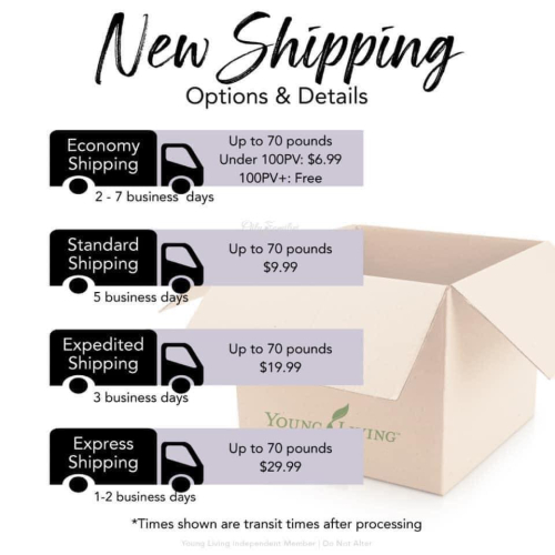 New Shipping Options For Young Living www.EssentialOils4Sale.com
