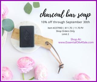 Young Living Charcoal Bar Soap 10% Off www.EssentialOils4Sale.com
