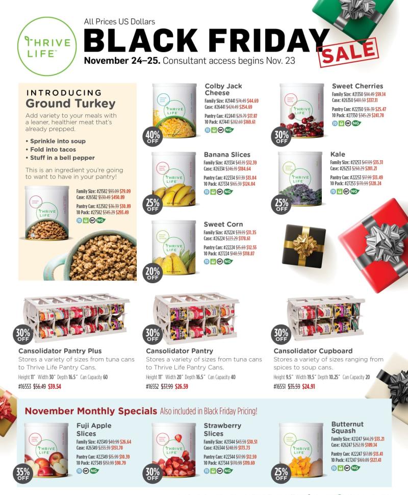 Thrive Life Black Friday Sale www.HealthyEasyFood.com