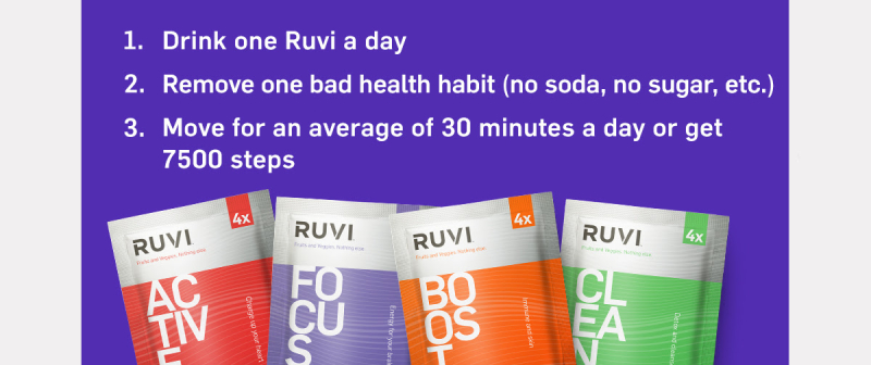 Ruvi 30 Day January Challenge www.HealthyEasyFood.com