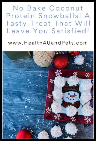 No Bake Coconut Protein Snowballs - www.Health4UandPets.com