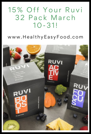 15% off your Ruvi 32 pack March 10-31 - www.HealthyEasyFood.com