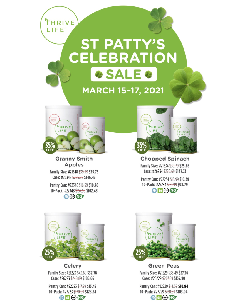 Thrive Life St. Patrick's Day Sale www.HealthyEasyFood.com