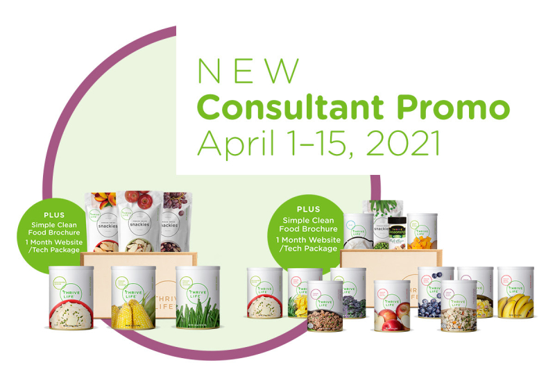 Thrive Life new consultant promo www.HealthyEasyFood.com