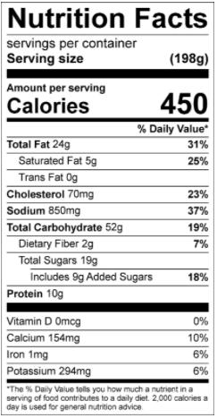 Ruvi Cinnamon Apple Pancakes Nutritional Info www.HealthyEasyFood.com