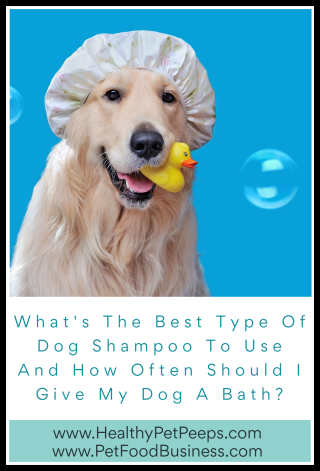 What's The Best Type Of Dog Shampoo To Use And How Often Should I Give My Dog A Bath - www.HealthyPetPeeps.com