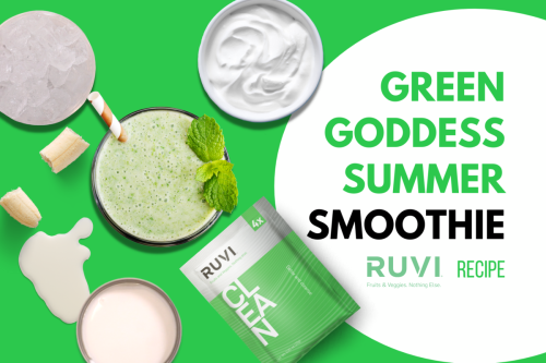Green Goddess Summer Smoothie with Ruvi Clean