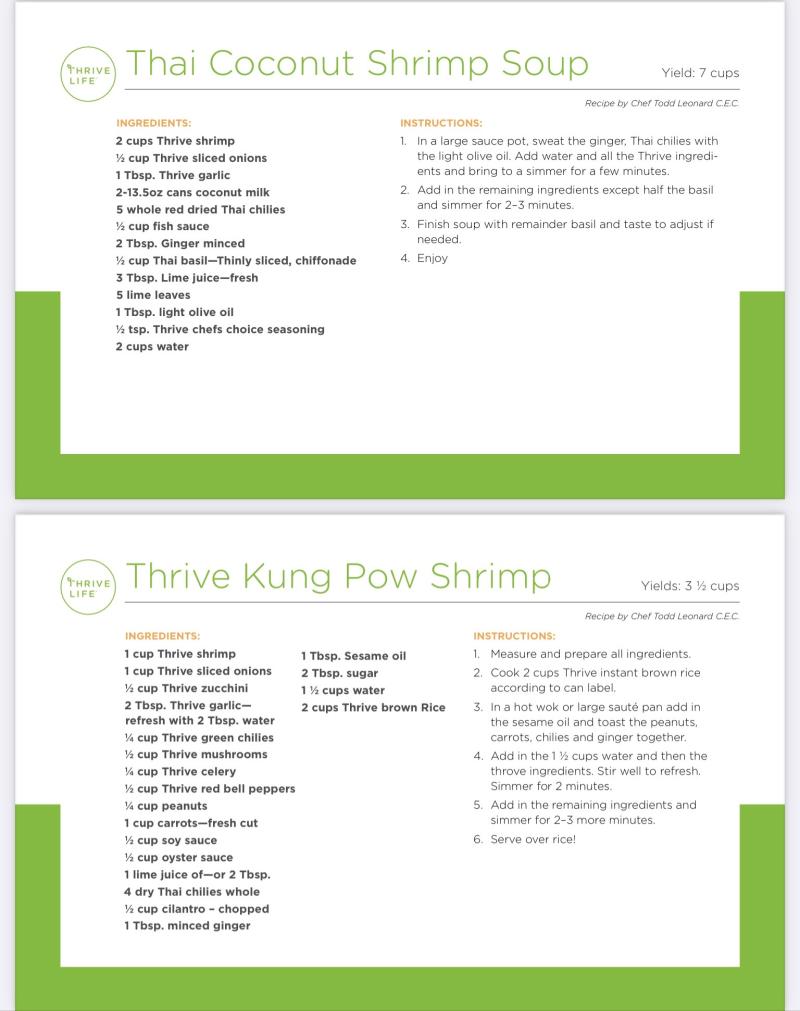 Coconut Shrimp Soup and Kung Pao Shrimp www.HealthyEasyFood.com