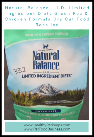 Natural Balance L.I.D. Limited Ingredient Diets Green Pea & Chicken Formula Dry Cat Food Recalled - www.HealthyPetPeeps.com