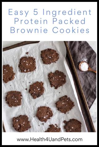 Easy 5 Ingredient Protein Packed Brownie Cookies - www.Health4UandPets.com