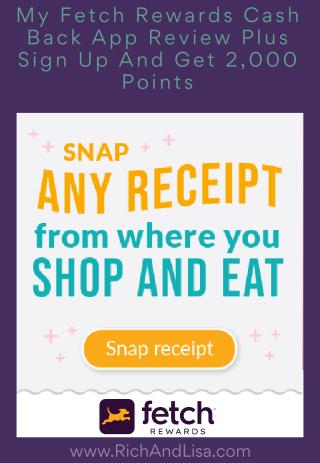 My Fetch Rewards Cash Back App Review Plus Sign Up And Get 2 000 Points - www.RichAndLisa.com