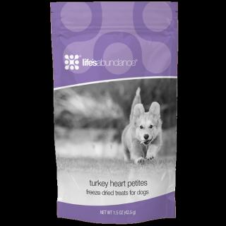 Life's Abundance Turkey Heart Petites Dog Treats www.HealthyPetPeeps.com