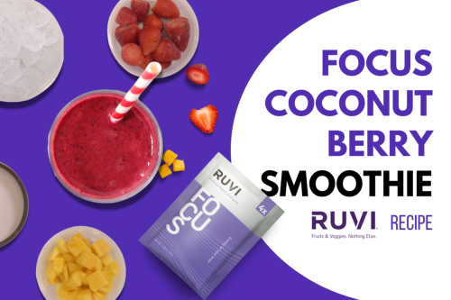 Coconut Berry Smoothie with Ruvi Focus