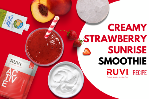 Creamy Strawberry Sunrise Smoothie with Ruvi Active